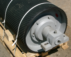 Conveyor Roller with Rubber Lagging